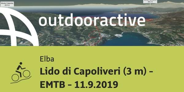 Mountain bike in Elba: Lido di Capoliveri (3 m) - EMTB - 11.9.2019