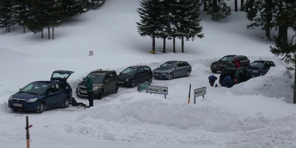 Tourengeherparkplatz