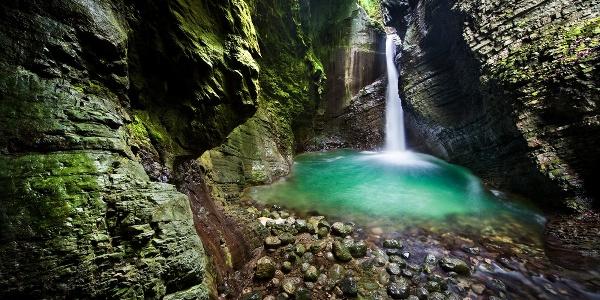 Kozjak Wasserfall, Kobarid