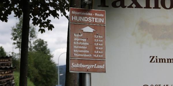 Auf der MTB-Route zum Hundstein.