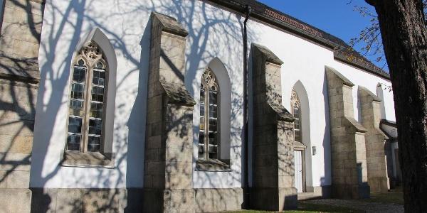 Pfarrkirche in Sparneck - Seitenansicht