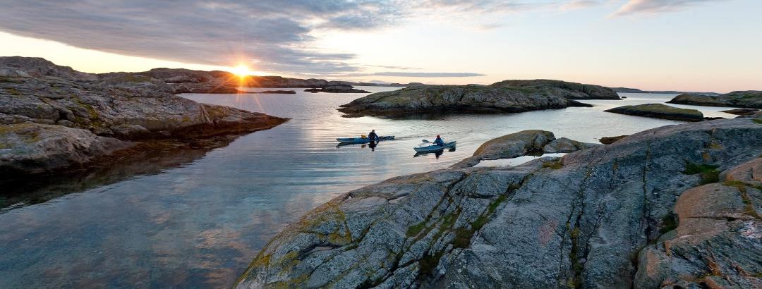 Kajakfahren in Westschweden