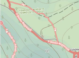 A jelzések a térképen