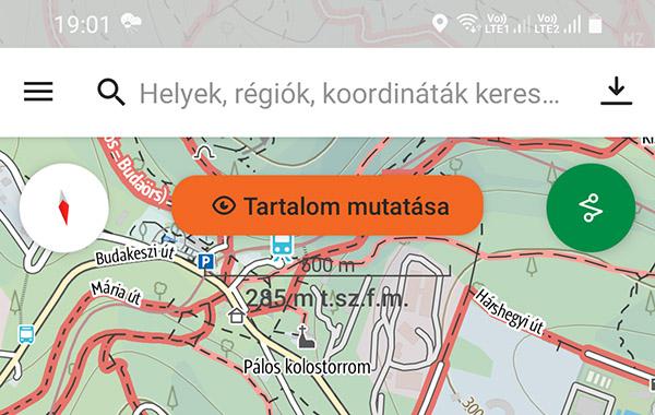 A térképrészlet letöltése