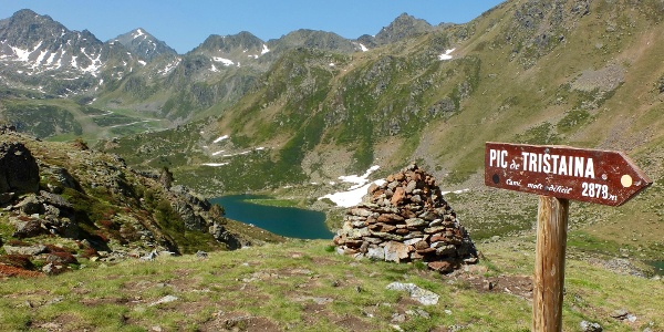 Blick nach Süden über die beiden Seen hinweg