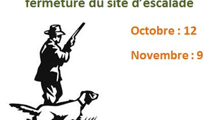 Let op! Op 11 oktober en 9 november is het massief gesloten ivm de jacht!