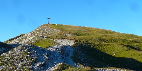Die letzen Meter zum Gipfelkreuz