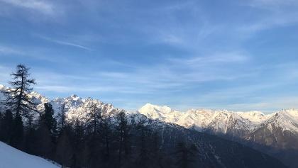 Die Aussicht auf die höchtsen Berge des Wallis