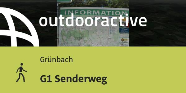 Wanderung in Grünbach: G1 Senderweg