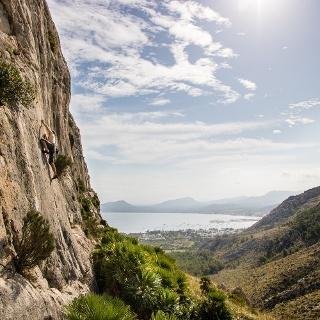 Im Klettergarten La Creveta am Cup de Formentor auf Mallorca.