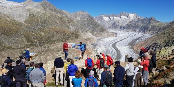 Themenweg Grosser Aletschgletscher im Wandel der Zeit