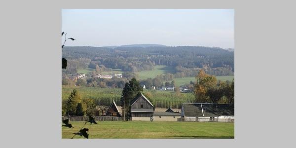 Aussicht von der Bank am Harzberg