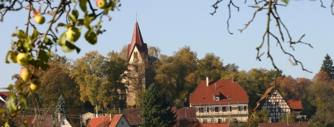 Blick auf Bodelshausen