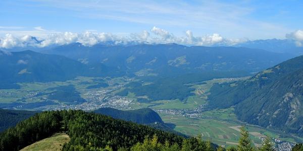 Panoramablick Brunecker Talkessel