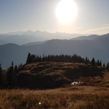 Herbstlicher Panoramablick vom Ahornstein