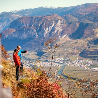 Panorama sulla valle dell'Adige