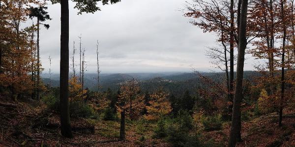 Vue du sommet de l'Eichelkopf en s'écartant du sentier