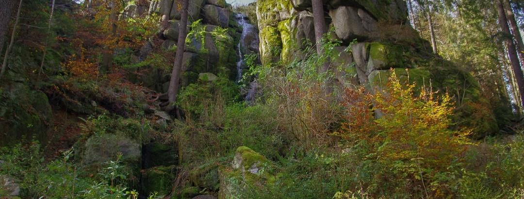 Blauenthaler Wasserfall im Herbst