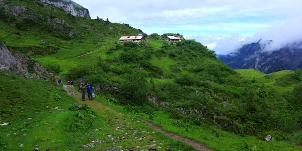 Auf dem Weg zur Lidernenhütte