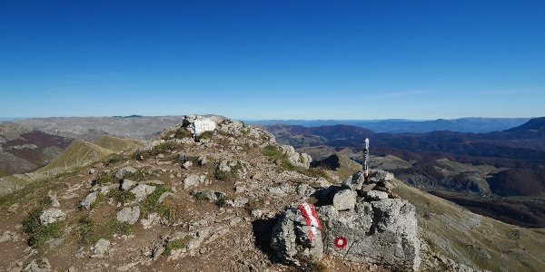 Am Gipfel des Vitos angekommen