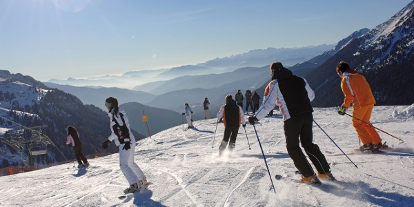 Pampeago-Predazzo-Obereggen, the largest ski carousel of  the Italian skiresort Val di Fiemme