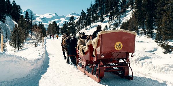 Kutschenfahrt ins Val Roseg