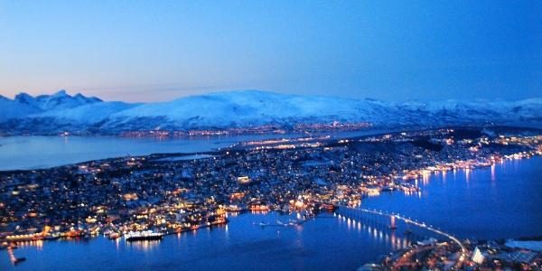 Wintertime view over Tromsø