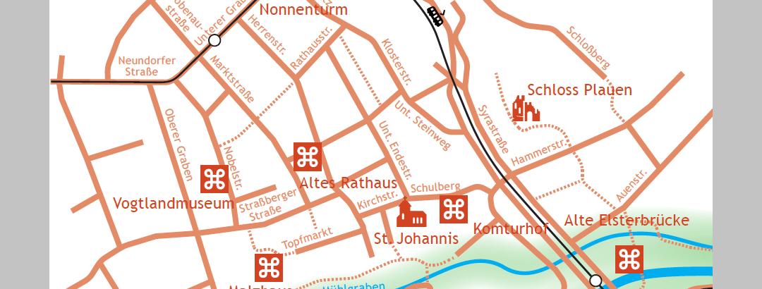 Kulturweg der Vögte - Karte der Etappe 9