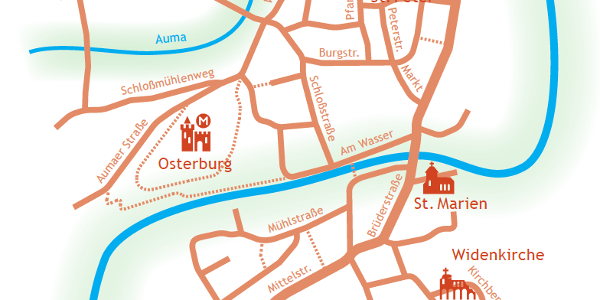 Kulturweg der Vögte - Stadtrundgang Weida