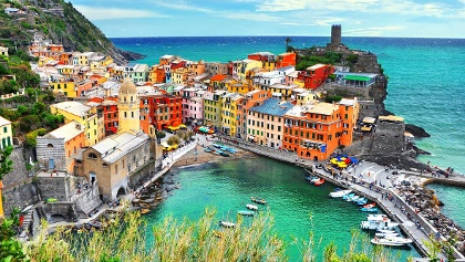 Vernazza, one of the five villages
