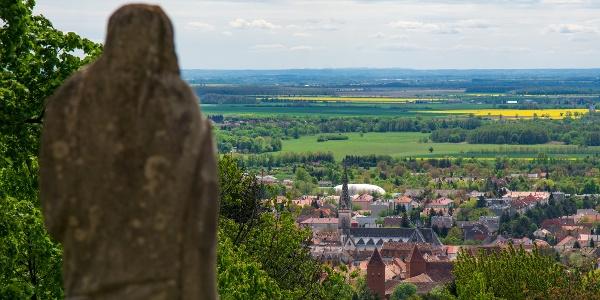 Kilátás a Kálvária templomtól Kőszeg irányába