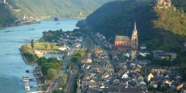 Oberwesel und die  Schönburg