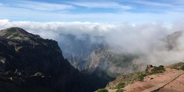 Ausblick vom Pico Arieiro
