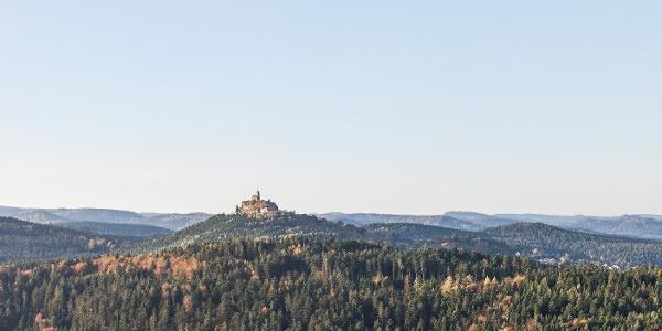 point de vue sur Dabo depuis la plate-forme rocheuse du Geissfels
