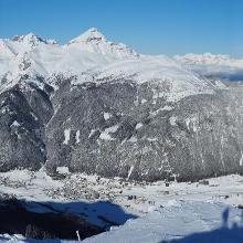 Gipfelpanorama von Habicht über Serles zum Wipptal und den Tuxer Alpen