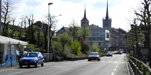 Ankunft in Payerne und Abtei