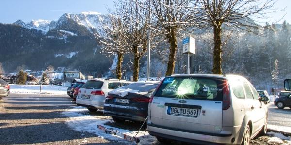 Parkplatz Königssee am oberen Ende bei der Jennerbahn.
