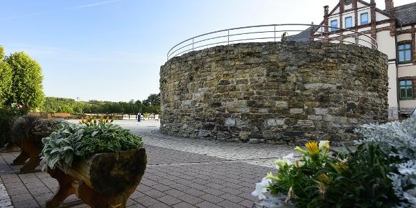 Reste der ehemaligen Saalburg
