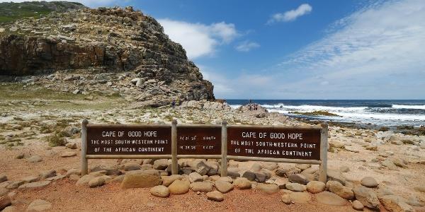 Südwestlichster Punkt Südafrikas: das Kap der Guten Hoffnung