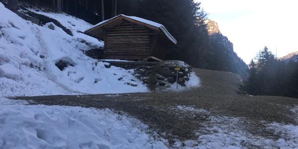 Wildfütterung am Forstweg zur Neubergalm