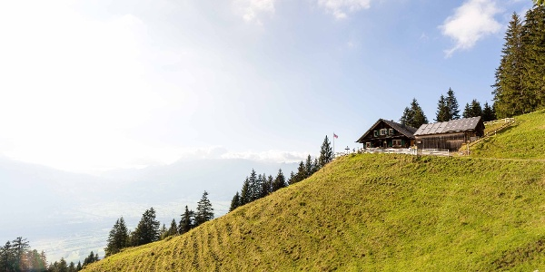 Gafadurahütte 1428 Meter über Meer