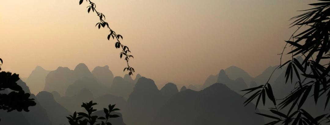 Berglandschaft bei Guilin