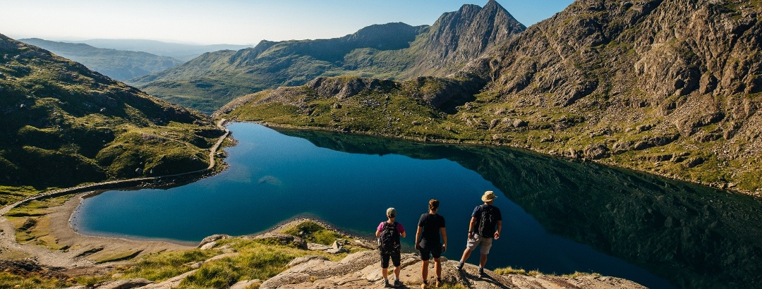 Walkers in the Snowdonia National Park