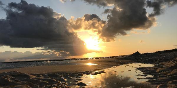 Sonnenaufgang am Zingster Strand