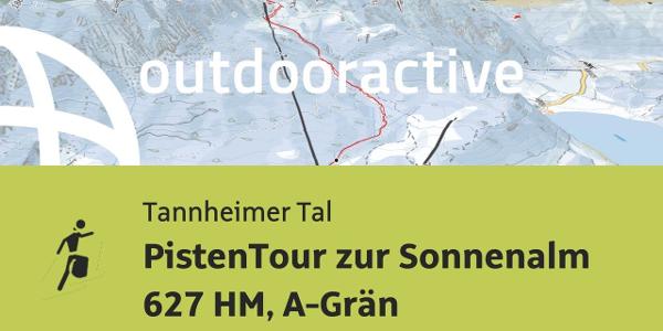 Skitour im Tannheimer Tal: PistenTour zur Sonnenalm 627 HM, A-Grän