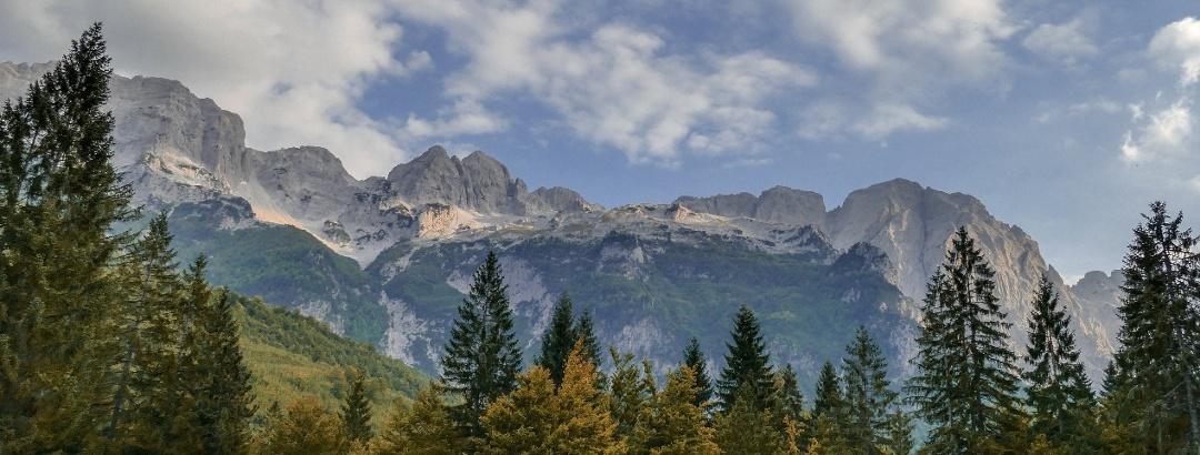Wilde Berglandschaft in Albanien