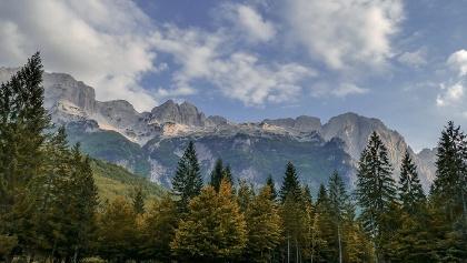 Wild mountain landscape in Albania