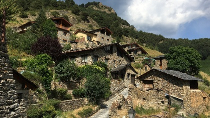 Mountain village in Andorra