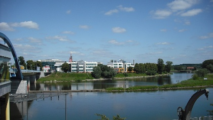 Widok z Frankfurtu na Collegium Polonicum