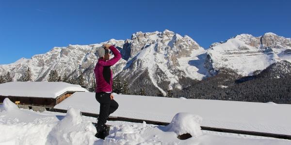 "Panorama on the Brenta Dolomites from ""Cascina Zeledria"""